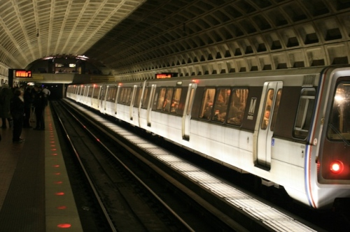 Taking DC metro in early Tuesday morning...