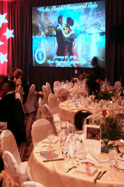 We attended the 'We the People' Inaugural Ball. It was held in honor of all those who volunteered or helped with Obama's campaign.